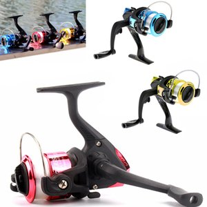 Wholesale High Speed Gear Ratio Spinning Small Fishing Reels with M Fishing Line Colors Optional Gold Red Blue