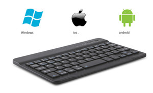 Wholesale Bluetooth Keyboard Cellphone Multi Device Universal Wireless Bluetooth Keyboard Rechargeable with Stand for Tablet Smartphone PC Black