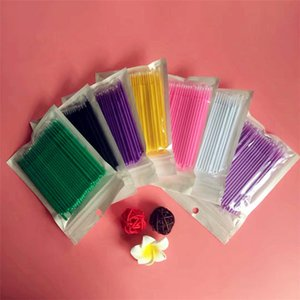 Wholesale Hot sale grafted lashes cotton swab disposable cotton swab makeup cleaning rod small cotton rod T3F0053