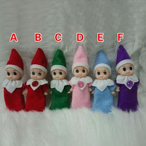 Christmas Baby Elf Doll Plush Toys Cute Boy Girl Elves Stuffed Dolls Kid Children XMAS Toys Decorations Gifts