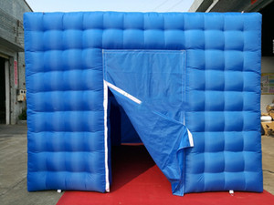 High quality 3.6x3.6x2.7m blue inflatable cube tent party event exhibition trade show giant photo booth kiosk for sale