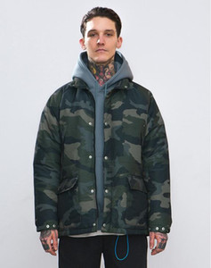 2018 autumn and winter new tide brand military camouflage thin section warm cotton clothing men's cotton coat loose coat