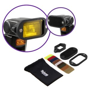 Wholesale Flash Speedlight Honeycomb Grid Diffuser Reflector with Magnetic Gel Band filters Flash Accessories Kit