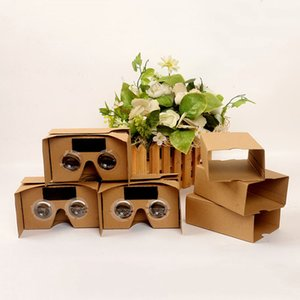 Wholesale DIY Google VR Cardboard V2 glasses VR paper boxes Virtual Reality D Viewing google II Glasses for iphone x STY106