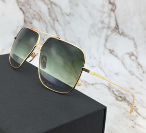 Vintage Gold Green Pilot Mens Sunglasses Designer Flight Sunglasses Glasses Shades gafas de sol New with Case Box