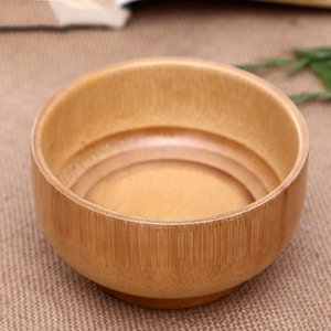 Bamboo System Kitchen Tableware Original Ecology Wooden Bowls Pure Color High Capacity Food Container 5 6jh Ww on Sale