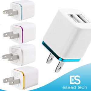 Wholesale High Quality Wall Chargers V A EU US Plug usb charger adapter Universal AC Power Adapter For Samsung S5 S4 Note LG HTC SONY