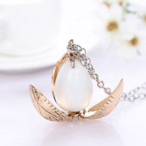 Wholesale Harry Styles Fire Dragon Egg Potter Pendant Goblet Of Fire Rotation Activity Unisex Magic Open Gift Vintage Necklace X912