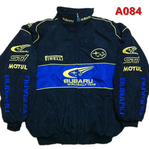 2018 Subaru Embroidery Cotton Nascar Moto Car Team Racing Jacket Suit