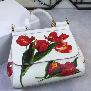 Wholesale 2018 wrist strap bag shoulder strap Mafia leather casual embroidery ladies handbag