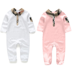 Wholesale New Fashion Newborn Toddler Infant Baby Boys Romper Long Sleeve Jumpsuit Playsuit Little Boy Outfits pink Clothes