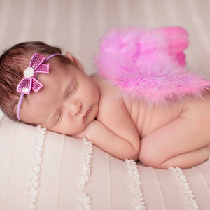 Wholesale Newborn Photography Props pink Angel Wings Photo Props Baby Girls Boys Outfits Accessories
