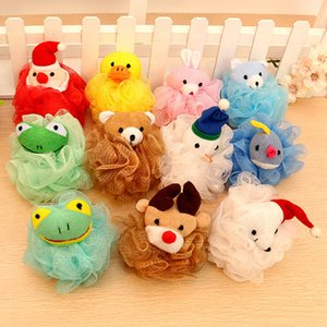 Wholesale Animal Cartoon Bath Ball Child Body Exfoliate Puff Sponge Mesh Shower Balls Bath Puff Bathroom Body Shower HH7