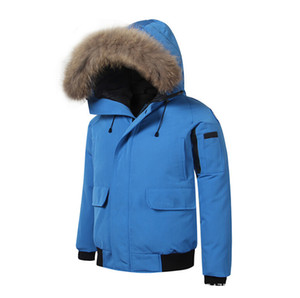 Wholesale Fashion Mens Designer Winter Coats Colors Branded Down Parkas Ribbed Long Sleeve Hooded Outerwears Windbreakers with Furs