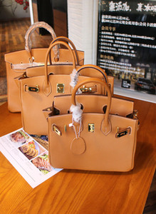 Wholesale 20CM cm cm CM Brand Totes Brown Genuine leather Cowhide Shoulder Bags lady Handbag High Quality