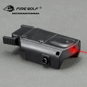 ingrosso nuovo puntatore laser-Fire Wolf New Arrial Tactical Red Laser Sight Puntatore laser con interruttore per la caccia pistola Airsoft