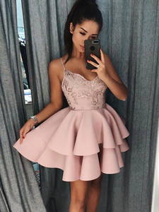 Little Short Sexy Spaghetti Straps Homecoming Dresses Mini Short Lace Sequins Short Prom Dress Women Cocktail Party Gowns BA9891