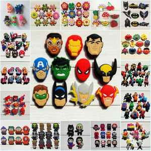 Wholesale 1000pcs Avenger Unicorns Numbers Alphabet PVC Shoe Charms Buckles Fit Croc Shoes Wristbands Fashion Accessories Kids Xmas Party Gift