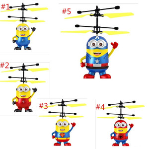 Wholesale DHL RC helicopter Drone kids toys Flying Ball Aircraft Led Flashing Light Up Toy Induction Electric sensor for Children