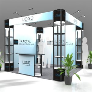 Standard 10ft*10ft Exhibition Booth Trade Fair Display Stand Economic Company Trade Show Booth With Portable Carry Bags (E01B4) on Sale