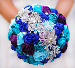Wedding Bridal Bouquet DIY Brooch Pearl Wire Rose Bridal Bouquet