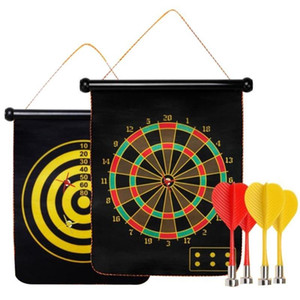 "12"" Safe Double Sided Magnet Dartboard with 4 Magnet Darts Indoor Outdoor Fun Sport on Sale"