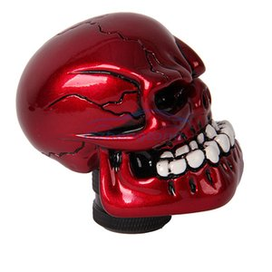 Wholesale Gzhengtong Universal Car Truck Auto Carvedl Stick Shift Gear Shifter Knob Skull Shape Red Color