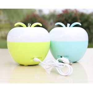 Wholesale Christmas Gift Rechargeable colorful dimmable strange bright blow on off discoloration apple blowing switch portable night light