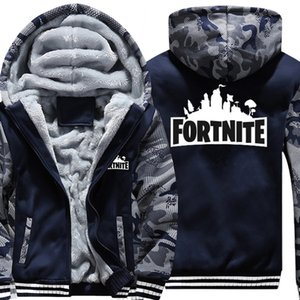 Wholesale Boys Clothes Winter Super Warm Hoodies Sweatshirts Thick Fleece Teenage Boys Camouflage Jackets Velvet Kids Coats Y18102507
