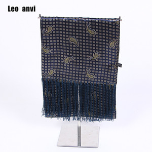 Wholesale men s silk scarves twill soft men scarf luxury cravat mod UK navy scarf Ascot Paisley Retro Mens Scooter Tassel