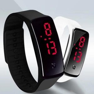 Wholesale New Fashion Sport LED Watches Candy Jelly men women Silicone Rubber Touch Scre