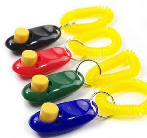 Wholesale Fashion Dog Pet Click Clicker Training Trainer Sound training Key ring loop included Agility Training Products