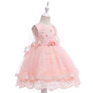 ingrosso vestito comunion-Tulle Cap Sleeve Flower Girl Dress per matrimoni Organza Ball Gown Girl Party Comunion Dress Pageant