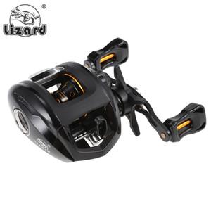 Lizard 12+1 Ball Bearings 6.3:1 Left Right Hand Fishing Baitcasting Reel Fishing Reels Wheel 10kg Max Drag Power Magnetic Brake VB