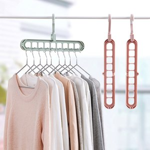 Wholesale Organizer Clothes Hanger Holder Storage Rack Home Organization Hangers Garment Drying Rack Rotating Rotate Clothing Closet Hook LZ1626