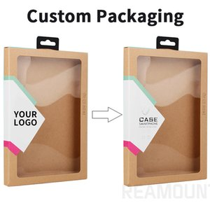 Wholesale 10 Custom Paper Packaging Box For Tablet Cover For Ipad Samsung Tablet Leather Case Kraft Paper Packing Box