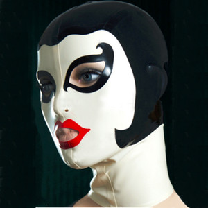 new sexy products female women Latex drama theatrical domino Mask handmade Hoods back zip customize size Fetish costume zentai
