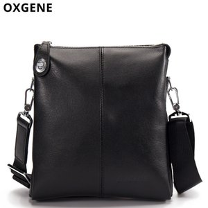Wholesale Shoulder Messenger Bags Balck Leather anti theft Zipper Document Bag Brand Designer Men IPAD Travel Multifunction Small Pocket