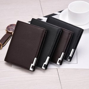 Wholesale 2018 luxury men's fashion leather wallet MB short clip brand designer card package MT business card holder high quality M B suit wallets
