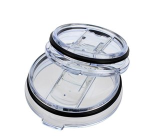 Hot Food Grade PP 20 30 Ounce Splash Spill Proof Clear Mugs Cups Lid Replacement Fit Vacuum Lid For Brand Cup