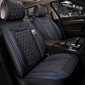 Wholesale nissan covers resale online - Universal Fit Car Accessories Seat Covers For Trucks Full Set Durable PU Leather Adjuatable Five Seats Covers For Nissan Titan Ram