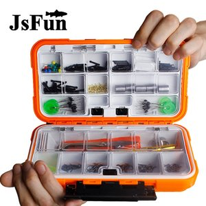Wholesale Fishing tackle box Hair Rig Combo box Accessories Hooks Rubber Tubes Swivels Beads Sleeves Stoppers Set X203