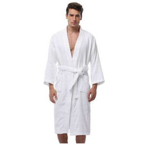 Men's Kimono Bathrobe Turkish Cotton Robes Plus Size Lightweight Long Robe For Men Absorption After Shower Bathrobe Sleepwear