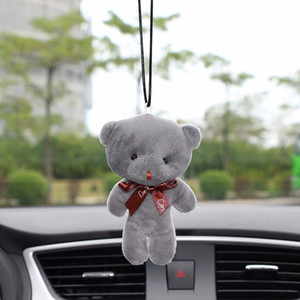 Wholesale Car Pendant Plush Stuffed Cute Bear Decoration Hanging Ornament Automobile Rear View Mirror Suspension Tie Bear Accessories Gift