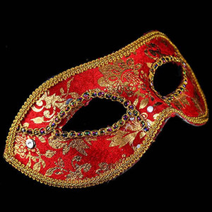 Wholesale Prince Lace Sequin Venetian Masks Adult Women Masquerade Half Face Mask Dress Party Decor Christmas Navidad New Year ZA5935