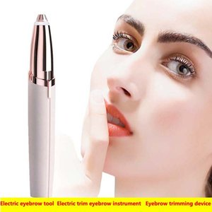 Wholesale Shaver Eyebrow trimming device Hair removal device Lipstick repairing eyebrow Electric trim eyebrow instrument mini Electriceyebrow knives