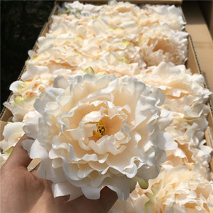 Wholesale decorations resale online - 50PCS High Quality Silk Peony Flower Heads Wedding Party Decoration Artificial Simulation Silk Peony Camellia Rose Flower Wedding Decoration