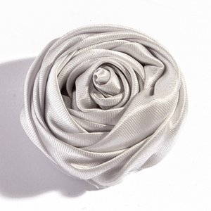 Wholesale Decoration CM Colors Novelty Artificial Soft Satins Ribbon Rolled Rose Fabric Flowers for Headbands Children Hair Accessories