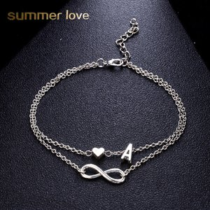 Wholesale infinite love for sale - Group buy Fashion Double layer Infinite Letter Bracelet Bangle For Women Simple Adjustable Silver Color Name Bracelets Love Jewelry Party Gifts