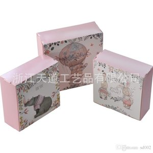 Wholesale Moon Cake West Point Gift Package Boxes Lovely Rabbit Decor Square Cookie Packing Box Cute Convenient Creative Love Packages td jj